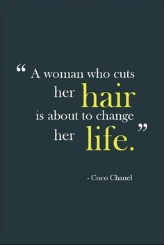 a woman who cuts her hair