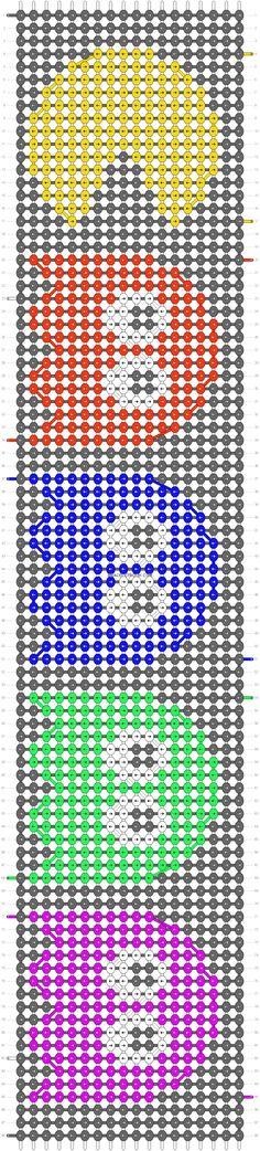 Alpha friendship bracelet pattern added by Ellie_x. Loom Band Patterns, Diy Bracelets Patterns, Diy Bracelets Easy, Seed Bead Patterns, Beading Patterns, String Bracelet Designs, Diy Friendship Bracelets Patterns, Bracelet Knots, Bracelet Crafts