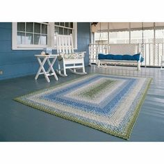 Cotton Braided Seascape Rectangular Rug Rug Size: 4' x 6' by Homespice Decor. $281.10. 1413291 Rug Size: 4' x 6' Features: -Made in India with 100pct cotton. Options: -Available in the following sizes: 2' x 3', 2'3'' x 4', 3' x 5', 4' x 6', 5' x 8', 6' x 9', 7' x 9', 8' x 10', Runner 2'6'' x 6', Runner 2'6'' x 9', Square 3', Square 6'. Construction: -Flat braid construction for added durability. Color/Finish: -Primarily blue and green with sand accents.