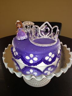 A Sofia The First Cake for my niece Kylee's 4th Birthday