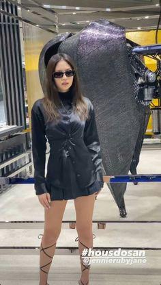 South Korean Girls, Korean Girl Groups, Jen Jen, Rap Lines, Blackpink Jennie, Lady And Gentlemen, Yg Entertainment, Gentleman, Leather Skirt
