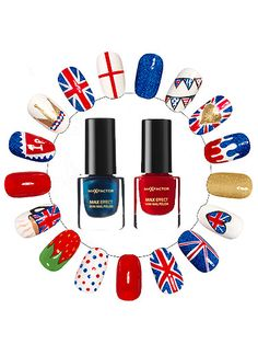 It's time to get patriotic! Max Factor show us how to fly the British flag with quirky union jack nail art Uk Nails, Shellac Nails, Nail Polish, City Nails, British Flag Nails, Union Jack Nails, One Direction Nails, Cool Nail Designs, Nail Stickers