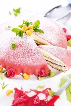 Princess Cake (Princesstårta)   Saveur. Recipe for the marzipan icing included