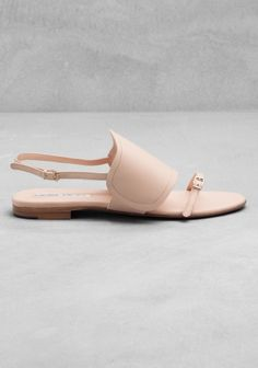 & Other Stories Flat Leather Nude Sandal