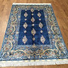 Camel Carpet Handmade Silk Bedroom Living Room Dark Blue Persian Rugs 4'x6' http://www.amazon.com/dp/B01DP9UM8M/ref=cm_sw_r_pi_dp_2Kbixb01JS0J2