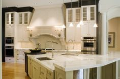 Private home designed by Dee Marksberry of Gage-Martin Interiors Tampa Bay #interiordesign #tampa #kitchen