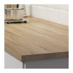 "EKBACKEN Countertop - 98x1 1/8 "" - IKEA Laminate that looks like butcher block"