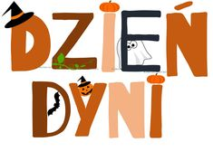 Dzieckiem bądź: Dzień Dyni - napis do pobrania Kids Education, Company Logo, Children, Crafts, Early Education, Young Children, Boys, Manualidades, Kids