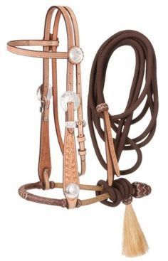 """New Grand Entry Rawhide Horse Bosal 5//8/"""" Brown Accent"""