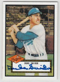 2002 Team Topps autographed Baseball card of the Duke Snider