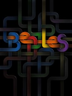 Beatles. Lovely work by Moscow based designer Liza Grachova.