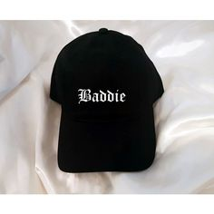 03d0a9925dcd2 Baddie Black Baseball Hat ( 13) ❤ liked on Polyvore featuring accessories