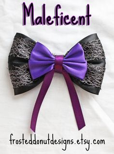 Maleficent Inspired Bow Disney's Maleficent by FrostedDonutDesigns, $9.00