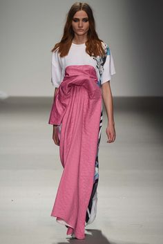 Catriona McAuley at the Central Saint Martins graduate showing for F/W 2015, at LFW.