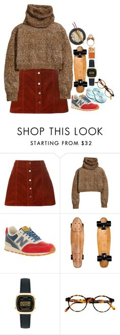 """""""issa look"""" by wh0s-that-grrrl ❤ liked on Polyvore featuring Dorothy Perkins, H&M, New Balance, Casio, François Pinton and Alexander McQueen"""