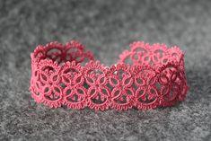 Frivolite Patterns http://littleblacklace.com/2012/09/01/fuchsia-rose/