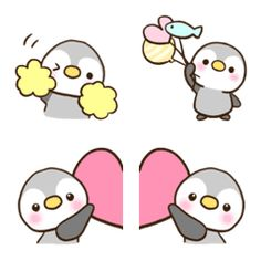 Little penguin emoji Simple Doodles, Cute Doodles, Animal Drawings, Cute Drawings, Penguin Drawing, Unicorn Painting, Cute Octopus, Chibi Cat, Easy Doodle Art