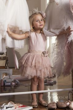 An elegant dress made of excellent mixed silk fabric, decorated with wonderful handmade flowers, design by Alexandra Plati. Baptism Outfit, Cat Store, First Communion Dresses, Handmade Flowers, Silk Fabric, Shoe Collection, Dress Making, Flower Girl Dresses, Elegant