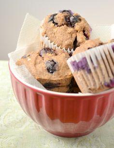 Gluten Free Vegan Blueberry Muffins  |   Food Doodles