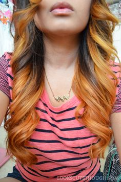 ombre with faded rose gold