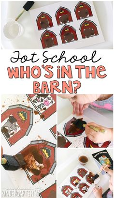 This Who's in the Barn? painting activity is a great extension activity to try after reading Who's in the Shed. Perfect for a farm theme in tot school, preschool, or the kindergarten classroom.
