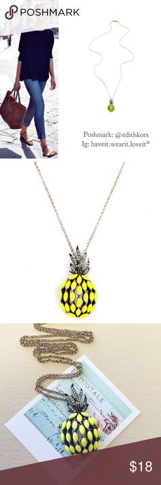 NWT retail pineapple pendant necklace Super cute necklace ! Your new Togo favorite necklace!  Hwl boutique Jewelry Necklaces