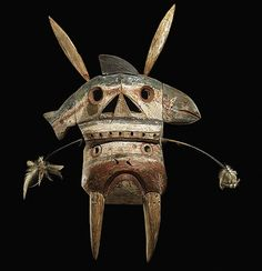 Yup'ik Mask, Kuskokwim River Eskimo, Alaska, late nineteenth century. Magic Transistor on Tumblr