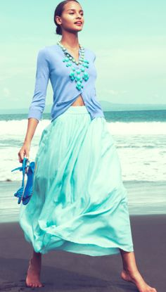 jcrew mint and blue