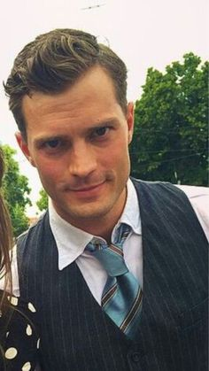 Holy ****! That look! @the50shadeslive #JamieDornan
