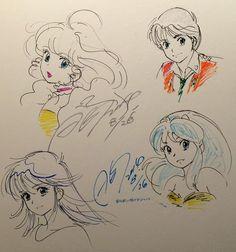 Akemi Takada a dessiné plusieurs personnages sur le mur du Café Inazuma : Creamy de Creamy Mami, Noa de Patlabor, Madoka de Kimagure Orange Road et Lamu d'Urusei Yatsura.