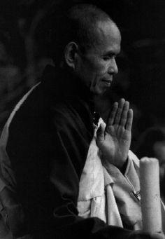 """I read his book, when I cannot control my self.  For peace.  """"Breathing in, I calm body and mind. Breathing out, I smile. Dwelling in the present moment I know this is the only moment.""""  - Thich Nhat Hanh"""