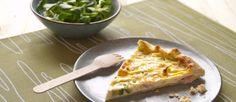 quiche di zucchine cotto e formaggio
