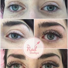 Before and after Russian volume lashes by Emma! #russianvolume #lashextensions #eyelashes #eyelashextensions #lashartist #lashes