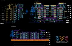 Apartment Building Facades Dwg Download apartment detail dwg, building dwg, architectural detail dwg