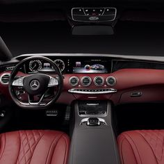 The all-new S-Class Coupe's interior. If you're lucky enough to be in #Geneva this week, you might get to see it in person. If you do, let us know what you think. #sclass #scoupe #S550 #mercedes #benz #instacar
