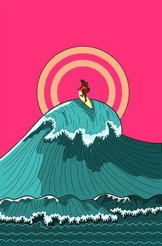Surfing holidays is a surfing vlog with instructional surf videos, fails and big waves Vintage Surf, Retro Surf, Vintage Mermaid, Surf Design, Arte Tribal, Art Graphique, Surfs Up, Beach Art, Travel Posters