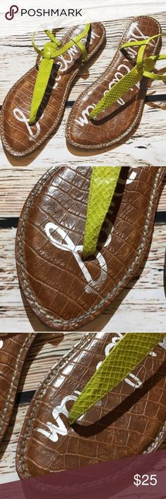 Sam Edelman Gigi thong Sandals 8.5 Sam Edelman Gigi thong Sandals 8.5. Do show some wear from wearing see pics but Overall great condition. OFFERS always welcome Sam Edelman Shoes