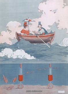 Photograph-Ultra-Marine by William Heath Robinson-Photograph printed in the USA Vintage Artwork, Vintage Images, Fine Art Prints, Framed Prints, Canvas Prints, Heath Robinson, Illustrations And Posters, Poster Size Prints, Photo Mugs