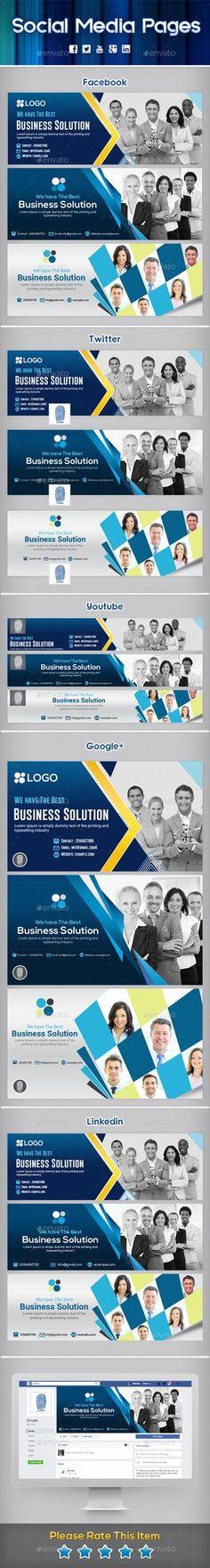 Multi Purpose Social Media Pages Design Templates PSD