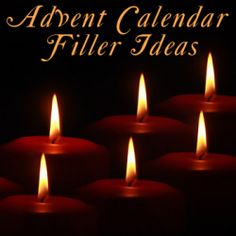 100 ! Filler and Gift Ideas and Suggestions for Christmas Advent Calendars - What do you put in yours?