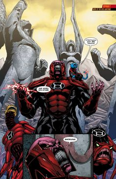 The Team Readies for Throw-down with Atrocitus in Dex Starr, Red Lantern Corps, Cool Science Facts, Dc Comics Characters, Marvel Series, Lanterns Decor, Comic Styles, Illustrations, Marvel Dc