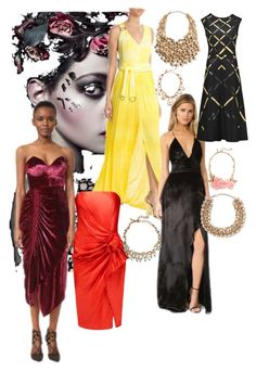 """""""Party Dresses - holiday choice"""" by lalu-papa on Polyvore featuring Roberto Cavalli, The Jetset Diaries, Preen, Jil Sander, Lanvin, Kenneth Jay Lane, Oscar de la Renta and Valentino"""