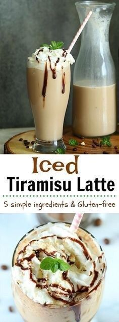 Iced Tiramisu Latte Savor the amazing flavors of summer with this easy-to-make in home exhilarating Iced Tiramisu Latte. Just 5 simple ingredients, gluten-free and can be vegan too! (Gluten Free Recipes For Dessert) Low Carb Dessert, Oreo Dessert, Dessert Recipes, Quick Dessert, Weight Watcher Desserts, Milk Shakes, Smoothies, Smoothie Recipes, Non Alcoholic Drinks