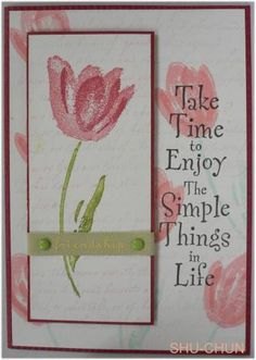 terrific tulips by Chang - Cards and Paper Crafts at Splitcoaststampers