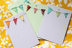 Ok, so now that I know you can make super cute bunting cards and tags with tiny scraps of fabric, I will never be able to throw anything out!  Thanks internet for helping me become more of a pack rat!
