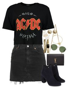 """Sem título #1154"" by manoella-f ❤ liked on Polyvore featuring Topshop, Boohoo, Yves Saint Laurent, Monsoon, Chanel, BP., Ray-Ban and Cartier"