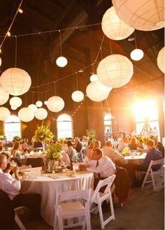 décoration salle de mariage avec lanterne pas cher