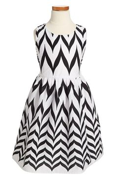 Roxette Chevron Print Sleeveless Dress (Big Girls) available at #Nordstrom
