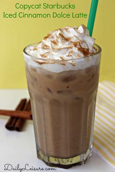 How to make Copycat Starbucks Iced Cinnamon Dolce Latte. Starbucks Caramel Frappuccino, Frappuccino Recipe, Latte Recipe, Starbucks Coffee, Starbucks Drinks, Cold Coffee Drinks, Coffee Drink Recipes, Starbucks Recipes, Yummy Drinks