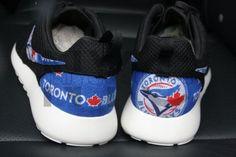 Toronto Blue Jays Nike Roshe One Run Black Custom Men Women &